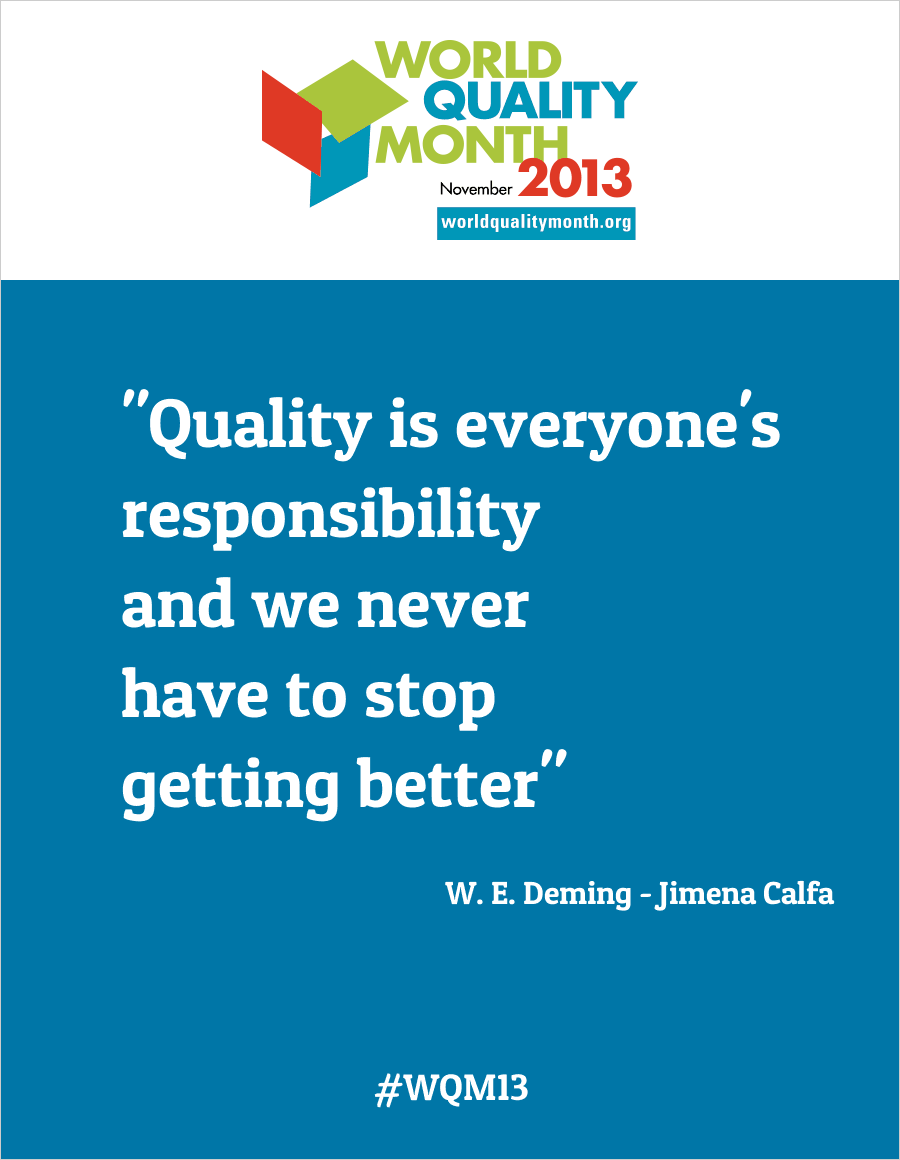 Quotes Quality Cool Quote Of The Month Quality Is On Quality